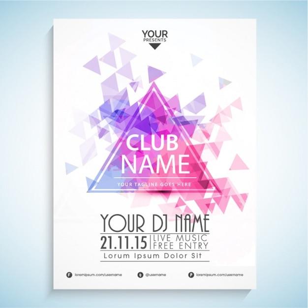 Party-flyer mit dekorativen polygone Premium Vektoren