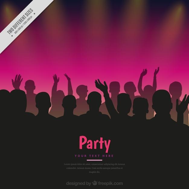 Party hintergrund mit menschenmenge Kostenlosen Vektoren