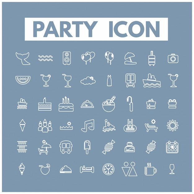 Party-ikonen Kostenlosen Vektoren