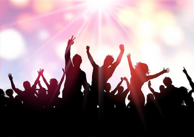 Party menschenmenge hintergrund Kostenlosen Vektoren