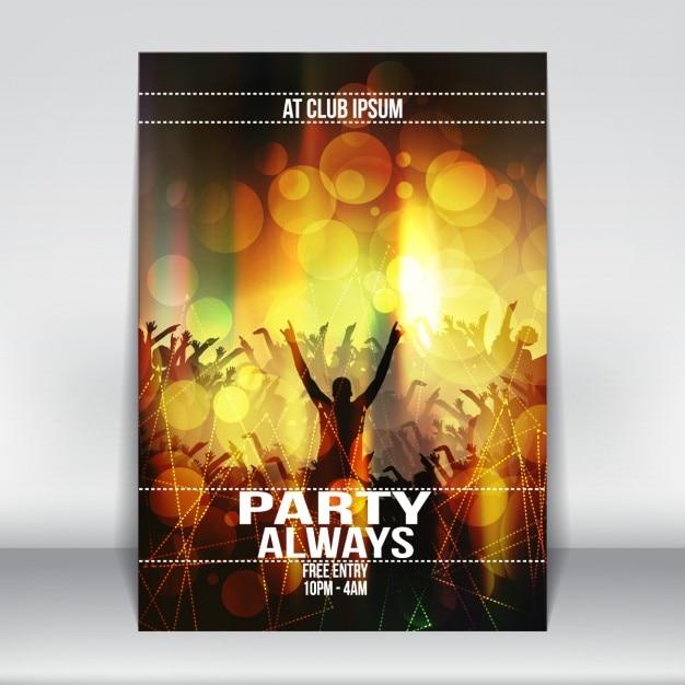 Party-plakat-design   Download der kostenlosen Vektor