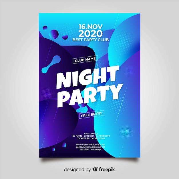 Party plakat vorlage mit abstrakten form Kostenlosen Vektoren