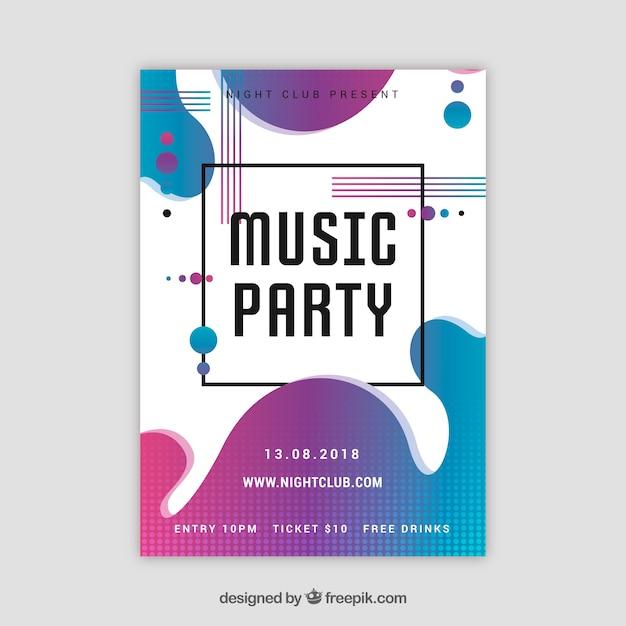 Party Poster Vorlage mit abstrakten Stil | Download der kostenlosen ...