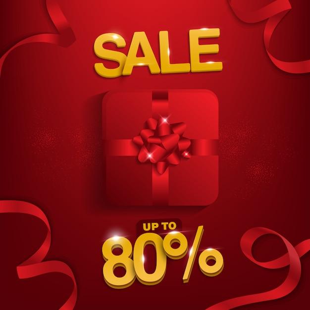 Party-verkauf, verkauf bis zu 80%, verkaufshintergrund für promotion. Premium Vektoren