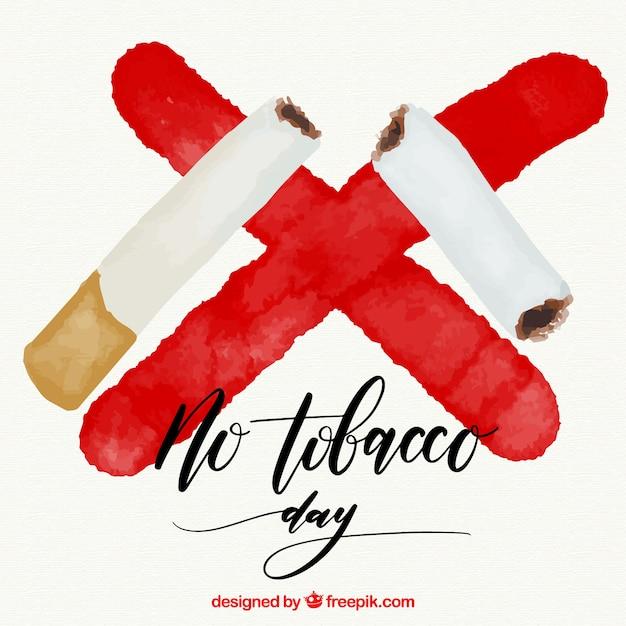 Party zigarre hintergrund und ein rotes aquarell kreuz Kostenlosen Vektoren