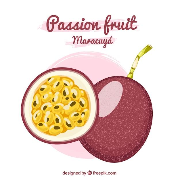 Passionsfrucht maracuyá Kostenlosen Vektoren