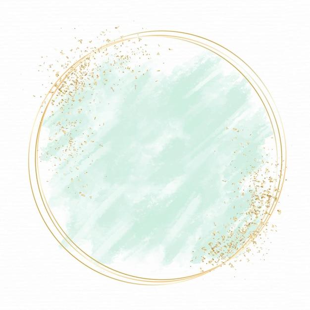 Pastell aquarell mit goldenem rahmen Kostenlosen Vektoren