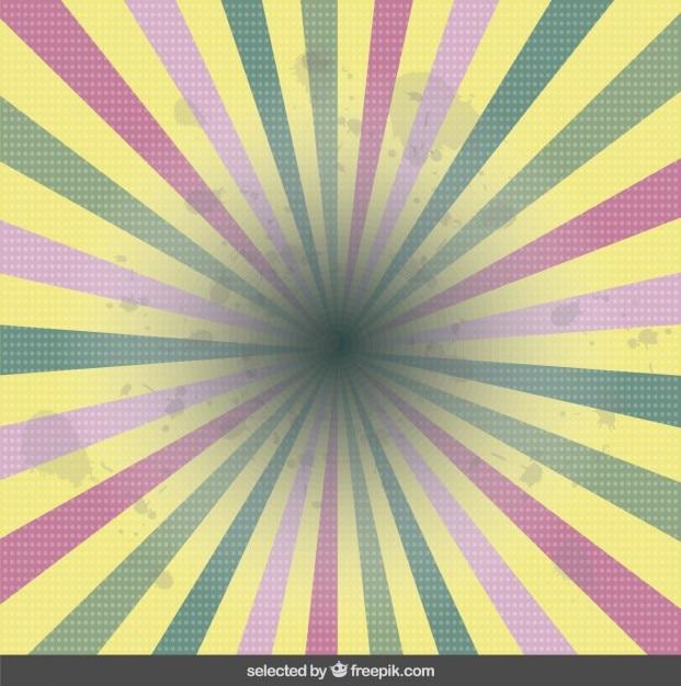 Pastell-farben sunburst hintergrund Kostenlosen Vektoren