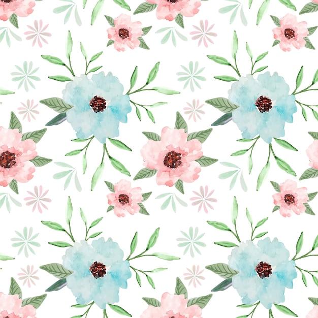 Pastell floral nahtlose muster aquarell hintergrund Premium Vektoren