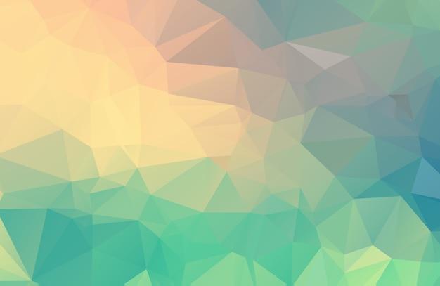 Pastell polygonale darstellung, die aus dreiecken bestehen. geometrischer hintergrund in der origami art mit steigung. dreieckiges design für ihr unternehmen. Premium Vektoren