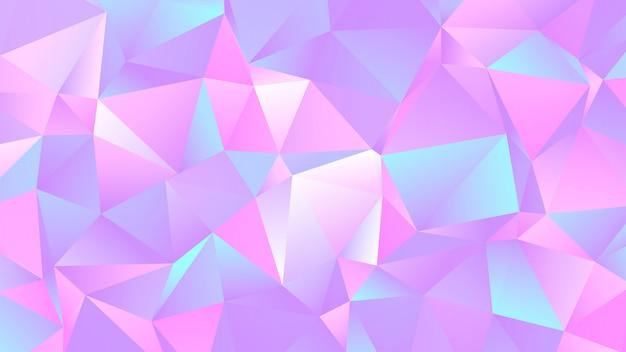 Pastellbunter crystal low poly-hintergrund Premium Vektoren
