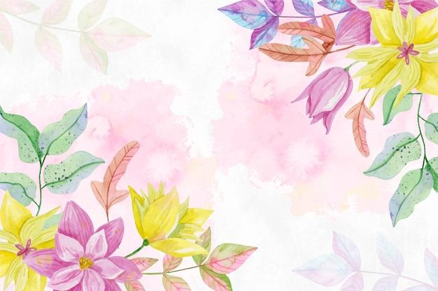 Pastellfarben aquarellblumenhintergrund Kostenlosen Vektoren
