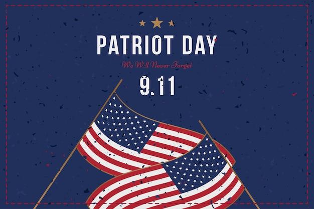 Patriot day 11. september Premium Vektoren