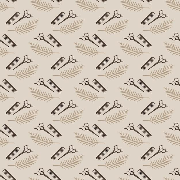 Pattern repetitive tools, die jeder friseur braucht. Premium Vektoren