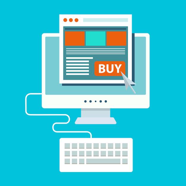 Pay-per-click und online-shopping Premium Vektoren