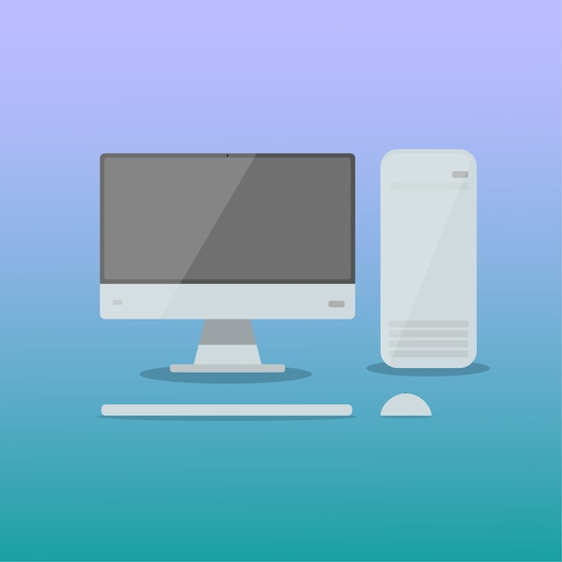 Pc momitor computer Premium Vektoren