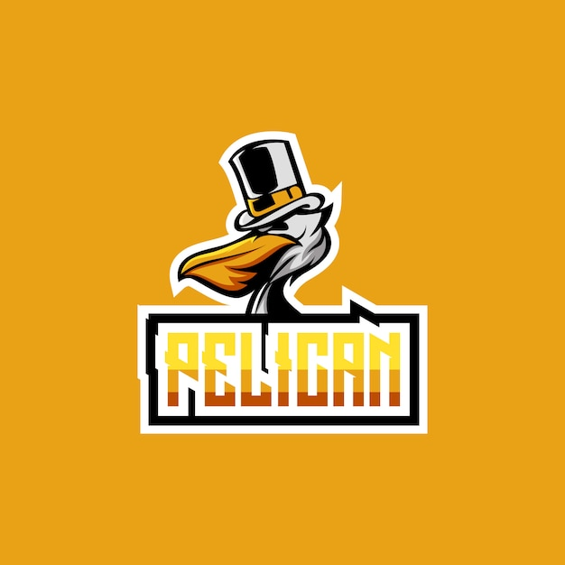 Pelikan-logo-design Premium Vektoren