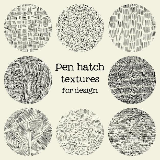Pen luke runde grunge texturen Kostenlosen Vektoren
