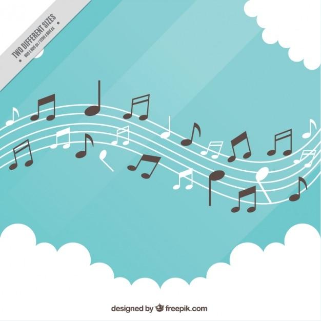 pentagramm hintergrund mit notizen und wolken download