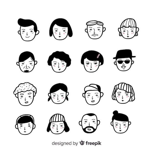 People-avatar-sammlung Kostenlosen Vektoren