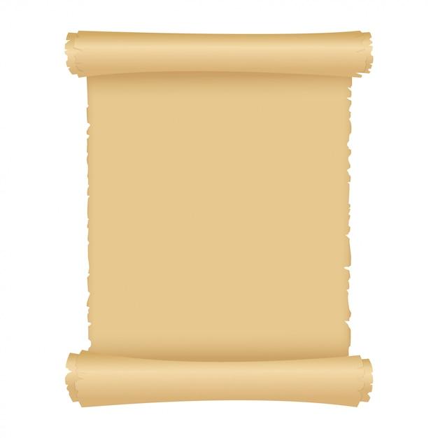 Pergament oder alte magische papierrolle. Premium Vektoren