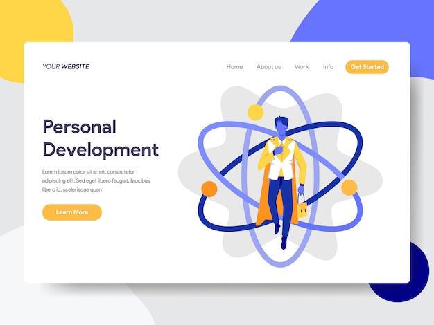Persönliche entwicklung für die webseite Premium Vektoren