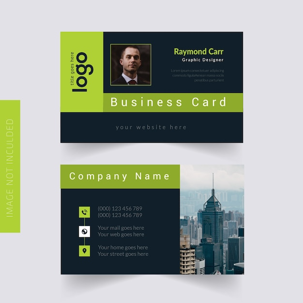 Persönliche visitenkarte Premium Vektoren