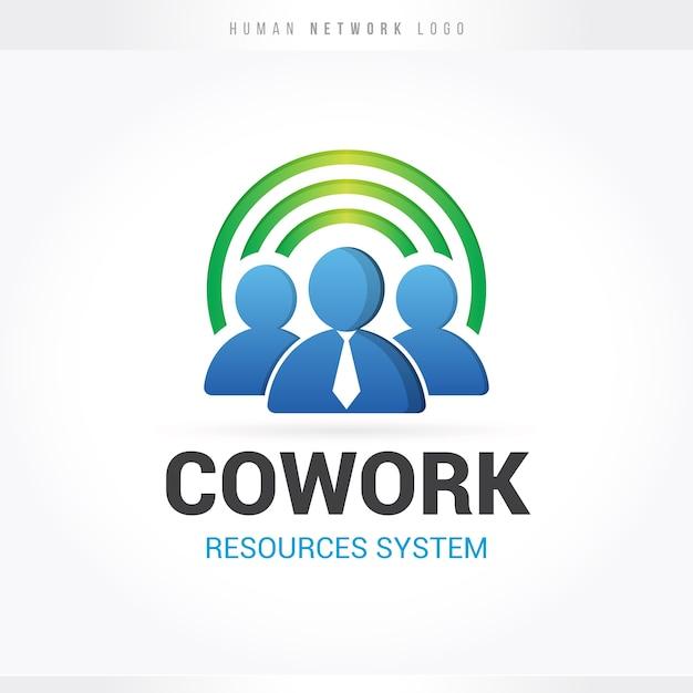 Personal-netzwerk-logo Premium Vektoren