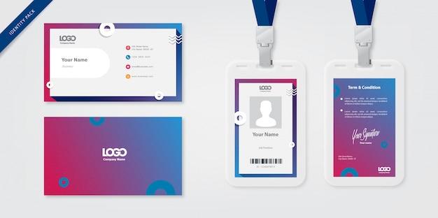 Personalausweis Vorlage Und Visitenkarte Download Der