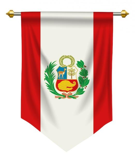 Peru wimpel Premium Vektoren