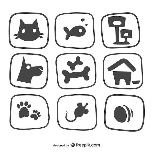 Pet icons pack Premium Vektoren