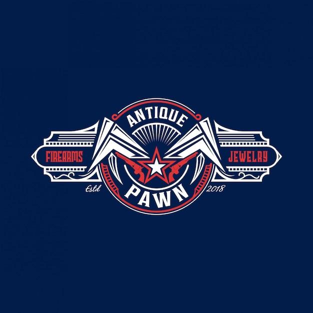 Pfand modernes vintage logo Premium Vektoren