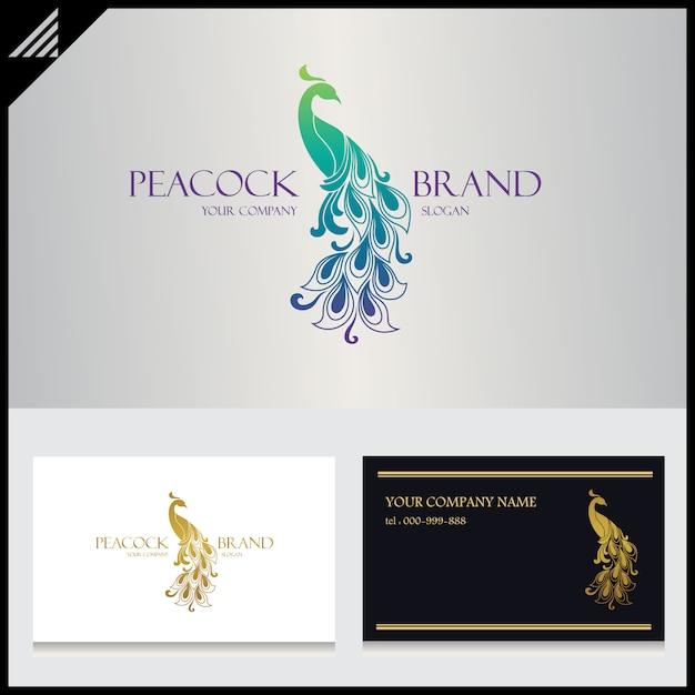 Pfau-logo Premium Vektoren