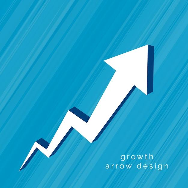 Pfeil 3d, der aufwärts design bewegt Kostenlosen Vektoren