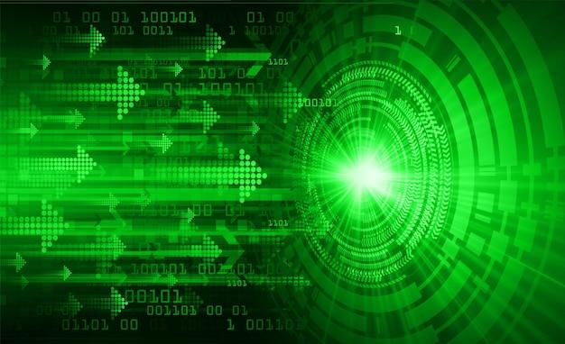 Pfeil cyber circuit zukunftstechnologiekonzept Premium Vektoren