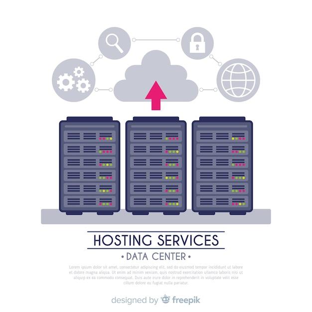 Pfeil-hosting-service-hintergrund Kostenlosen Vektoren