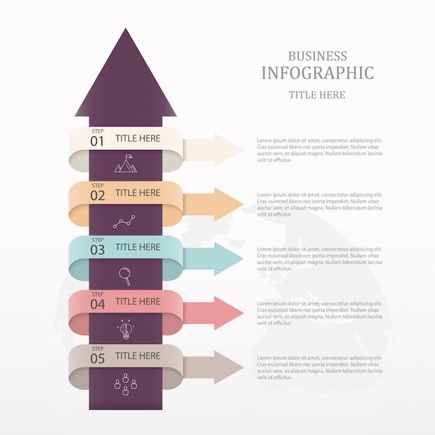 Pfeil-infografiken Premium Vektoren