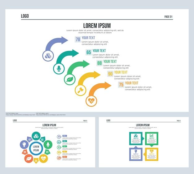 Pfeil Rotation Quadrat Set Präsentation Folie und PowerPoint-Vorlage ...