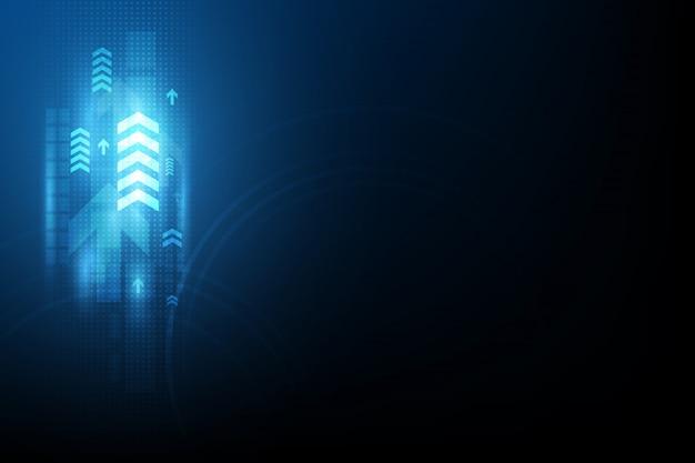 Pfeil speedcommunication abstrakter hintergrund Premium Vektoren