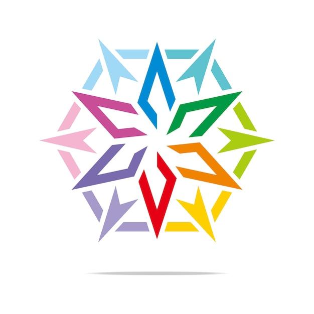 Pfeil-Stern-Logo-Schablone, auf Lager Design-Vektor | Download der ...