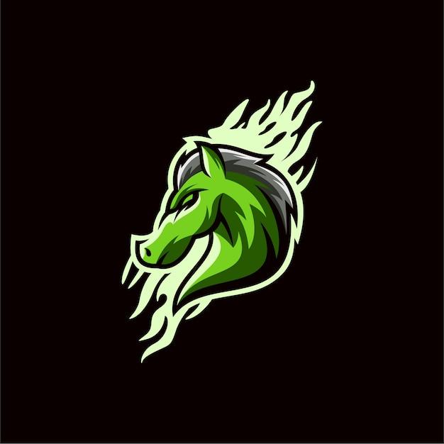 Pferd logo design Premium Vektoren