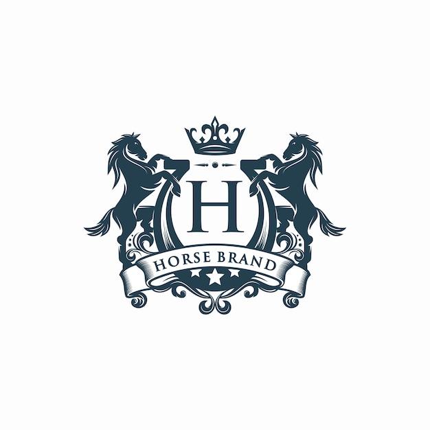 Pferdemarke, logo-vorlage Premium Vektoren
