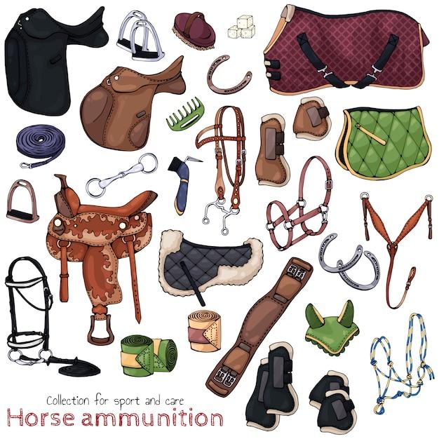Pferdemunition Premium Vektoren