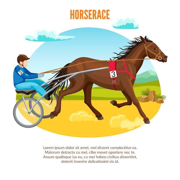 Pferdesport-cartoon Kostenlosen Vektoren