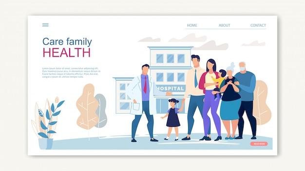 Pflege family health website banner Premium Vektoren