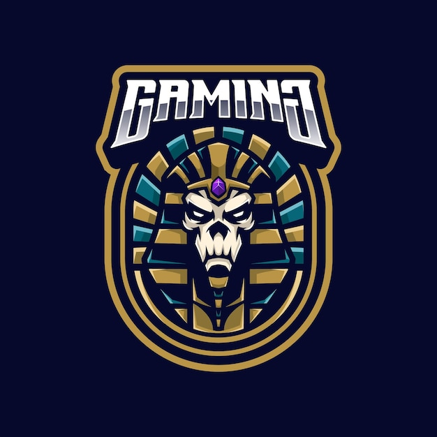 Pharao logo maskottchen Premium Vektoren