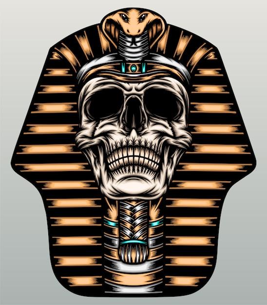 Pharao schädel illustration. Premium Vektoren