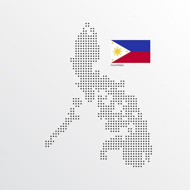 Philippinen kartengestaltung Kostenlosen Vektoren