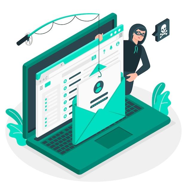 Phishing account konzept illustration Kostenlosen Vektoren