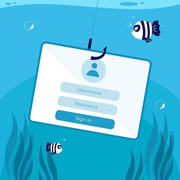 Phishing-konto-konzept Kostenlosen Vektoren